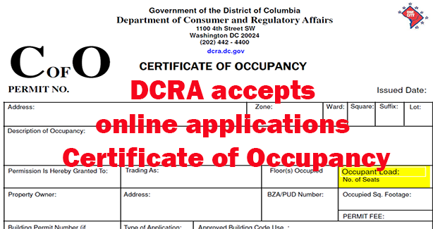 Submit Online Application for Certificate of Occupancy