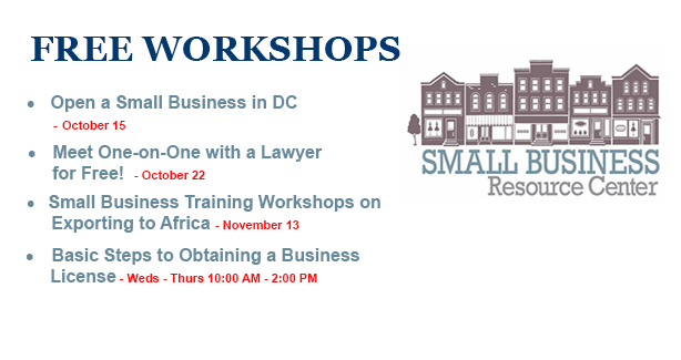 Small Business Resource Center - Free Workshops