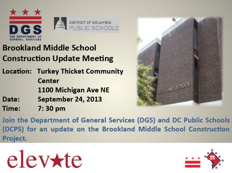 Brookland Middle School Construction Update Meeting