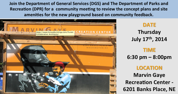 Marvin Gaye Playground Community Meeting July 17, 2014