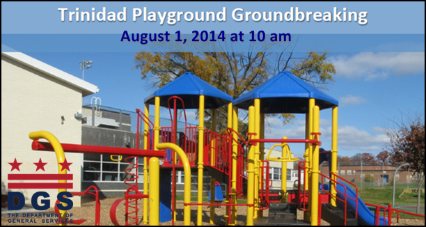 Trinidad Play DC Playground Ground Breaking Flyer 8-1-14