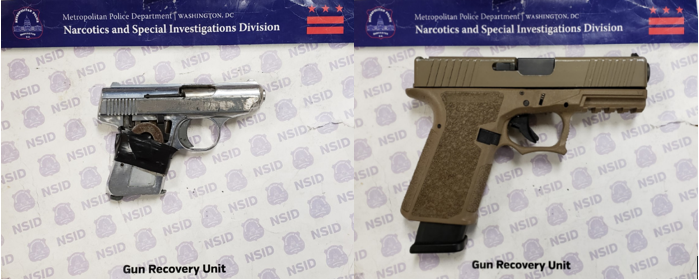 MPD's Weekly Firearm Recoveries: February 24, 2020 to March 2, 2020