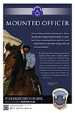 Recruiting Poster: Horse Mounted Officer