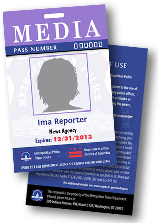 Design of media pass for 2013
