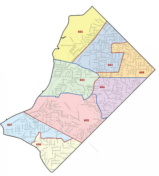 Overview map of the Sixth Police District (Washington, DC)