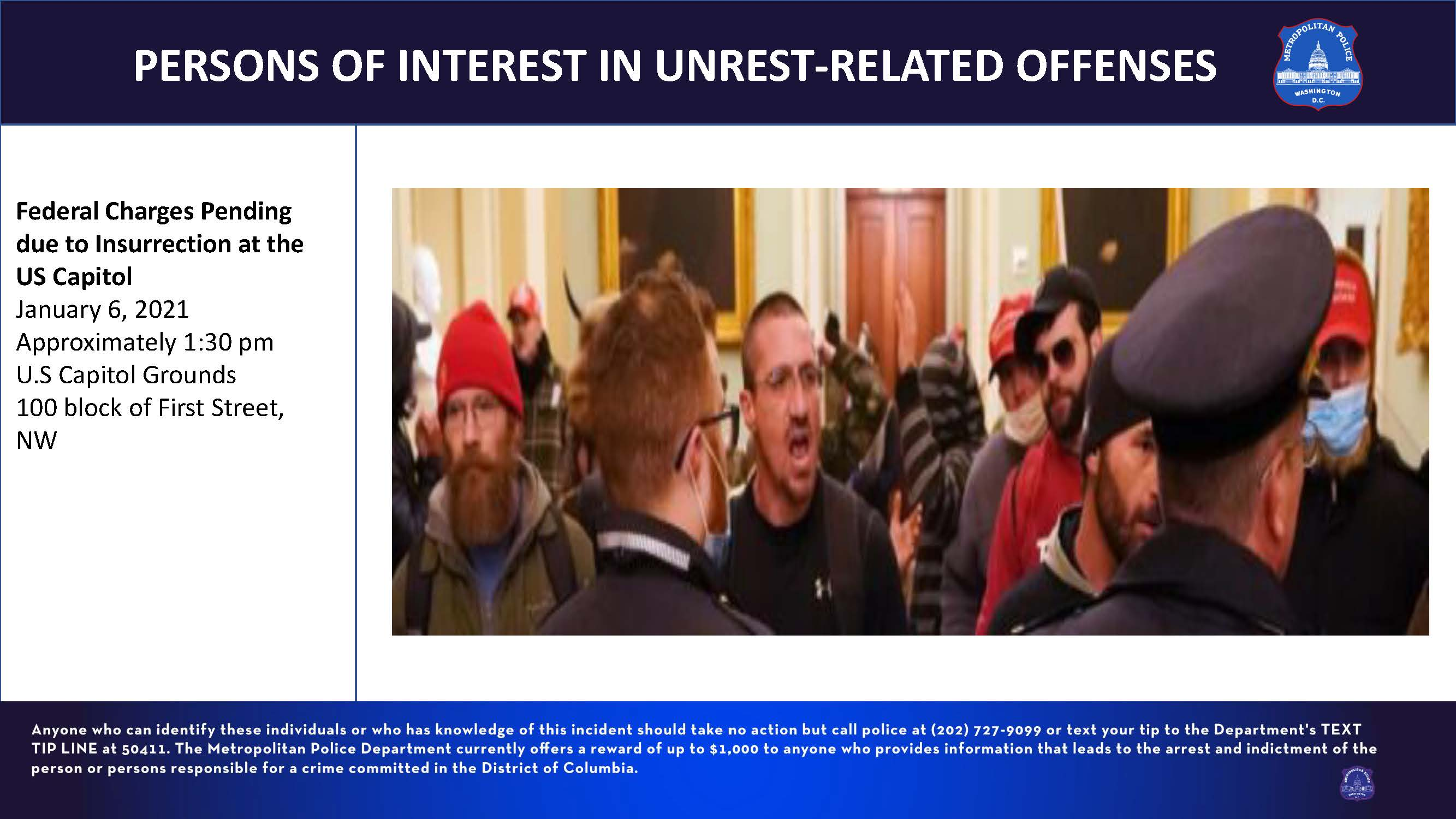 POIs in Unrest-Related Offenses on January 6, 2021