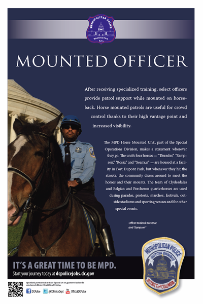 Mounted Officer Poster