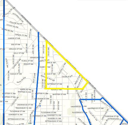 Map of the 4th District - 7400 block of Blair Road, NW
