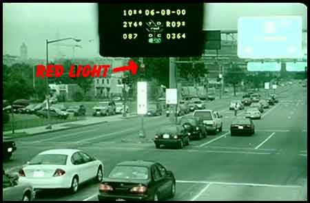 photo of traffic intersectin taken by traffic camera