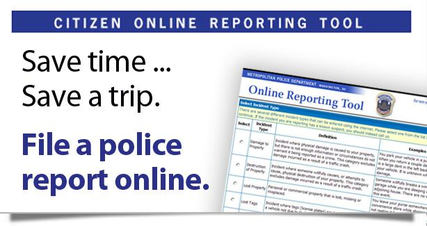 graphic of  the online reporting tool