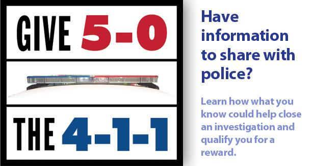 graphic of a police siren with the numbers 411
