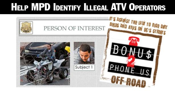 Help MPD Identify Illegal ATV Operators