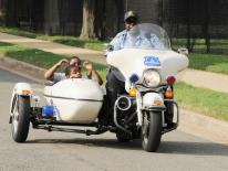 Photo of police motorcycle with side car