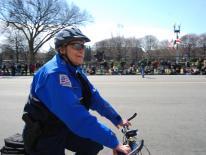 photo of officer on bike patrol