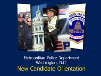 New Candidate Orientation