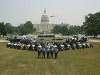 photo of police officers on Capitol grounds
