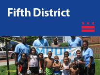 Fifth District (small header flag with community image)