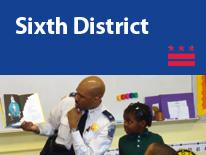 Sixth District (small header flag with community image)