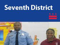 Seventh  District (small header flag with community image)