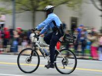 photo of mountain bike officer