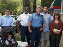 Police and community members working together