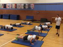 Reserve Corps members undergo physical training.